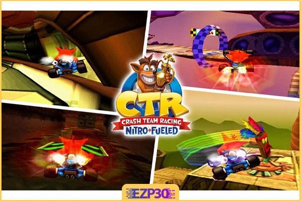 دانلود بازی کراش ماشینی برای کامپیوتر بازی Crash 4 Team Racing For PC