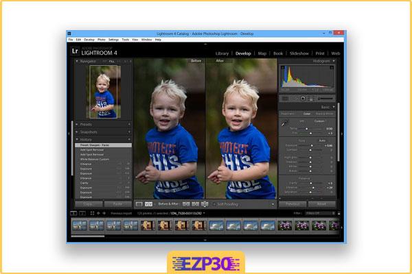 قبل و بعد عکس با دانلود برنامه لایت روم برای کامپیوتر