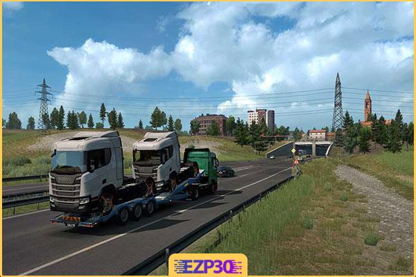 دانلود بازی کامیون برای کامپیوتر یورو تراک 2