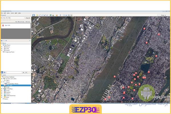 دانلود گوگل ارث زنده برای اندروید Google Earth برای موبایل کامپیوتر