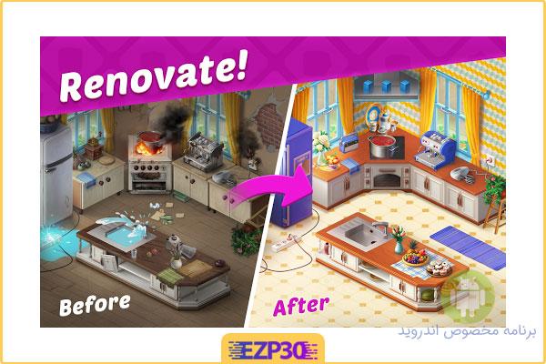 دانلود بازی Homescapes برای اندروید بازی پازلی عمارت نسخه هک شده