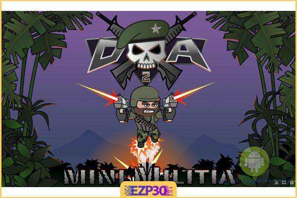 دانلود بازی مینی میلیتیا تیر بی نهایت برای اندروید Doodle Army 2 Mini Militia