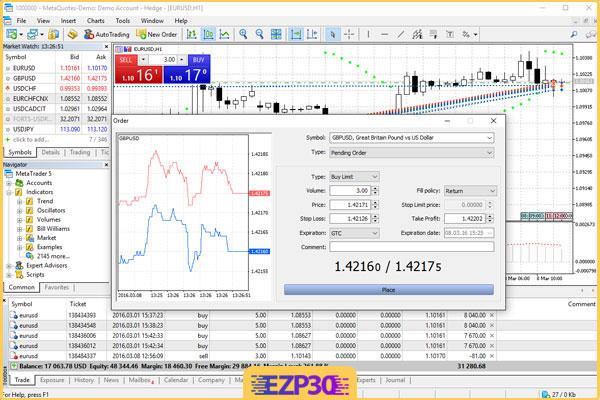 دانلود نرم افزار متاتریدر 5 برای کامپیوتر برنامه مالی MetaTrader 5