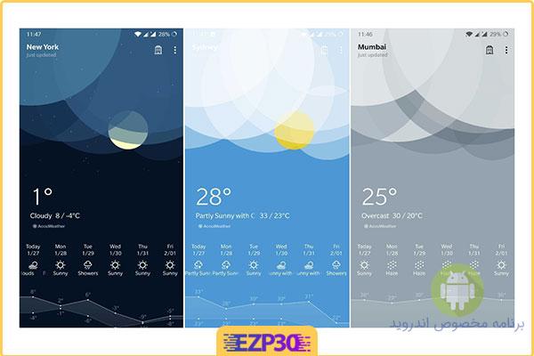 OnePlus Weather اندروید