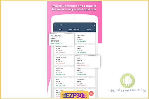 دانلود اپلیکیشن Invoice Generator & Estimate Maker اندروید