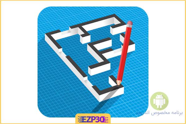 دانلود برنامه نقشه کشی اپلیکیشن Floor Plan Creator Full برای اندروید