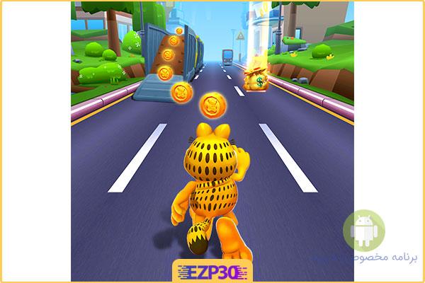 دانلود بازی فرار گارفیلد برنامه Garfield Rush برای اندروید