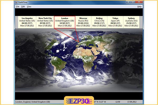 دانلود برنامه Desksoft EarthTime