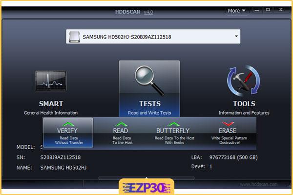دانلود نرم افزار HDDScan