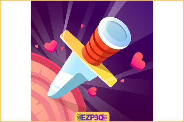 دانلود برنامه Knife Hit بازی پرتاب چاقو برای اندروید