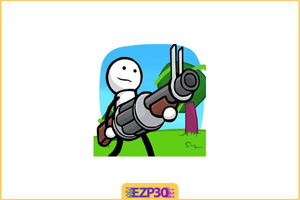 دانلود بازی One Gun: Stickman آدمک تیربارچی برای اندروید