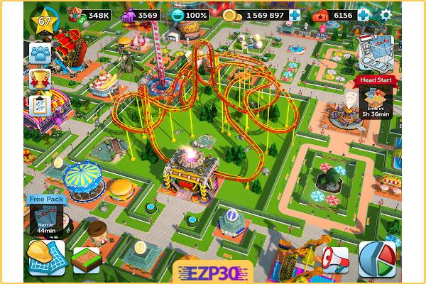 دانلود RollerCoaster Tycoon Touch بازی شبیه ساز پارک بازی